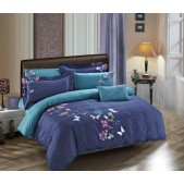 Oleander Butterfly 7pcs Duvet Cover Set